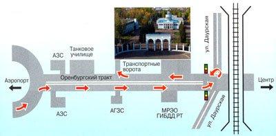 Схема проезда ОАО Казанская ярмарка