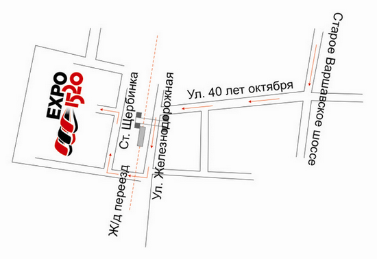 Проезд к Салону EXPO 1520