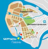Схема проезда к ВК Ленэкспо