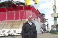 Президент Медведев побывал на Севмаше