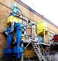 Оборудование непрерывного действия для переработки без пылеобразования сыпучих материалов в литейном производстве, горнорудной и промышленности стройматериалов