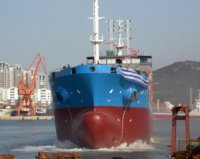 "Сухогруз ""Оникс"" проекта DCV36 спущен на воду"