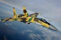 Истребитель Су-35С опробует в ходе испытаний новейшие боеприпасы