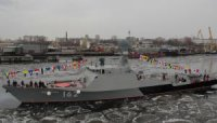 """Корабль """"Махачкала"""" успешно завершил первый этап ходовых испытаний"""