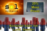 Sol Voltaics увеличила мощность солнечных панелей