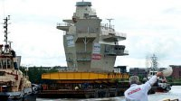 Командно-диспетчерский пункт для авианосца HMS Queen Elizabeth покинул верфь BAE Systems