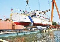 Девятый скоростной патрульный катер для Береговой охраны Индии спущен на воду