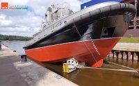 "Буксир ""РБ-413"" проекта 90600 спущен на воду на ""Пелле"""