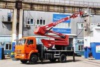 Завод «Чайка-Сервис» выпустил новый комбинированный автогидроподъёмник на шасси КамАЗ