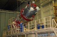 """Байконур: пилотируемый космический корабль """"Союз ТМА-16М"""" проходит испытания в барокамере"""