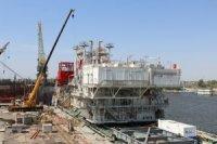 На Астраханском судостроительном производственном объединении завершён очередной этап строительства ЛСП-1