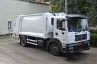 КрАЗ представил новый мусоровозный автомобиль с задней загрузкой