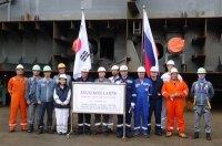 Верфь SHI заложила киль головного арктического танкера для Совкомфлота
