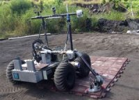 В США испытан способный строить посадочную площадку на Луне и Марсе робот
