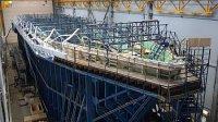 На СНСЗ продолжают формировать корпус второго серийного корабля противоминной обороны