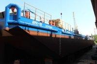 На АСПО спустили на воду грузовой понтон проекта 6516