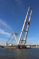 Плавкран «Волгарь» проходит освидетельствование Российского морского регистра судоходства
