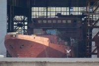 """Возгорание изоляции на строящемся СКР """"Адмирал Истомин"""" не причинил ему серьезного ущерба"""