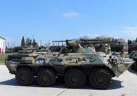 Отдельная бригада морской пехоты Черноморского флота полностью перевооружена на новые БТР-82А