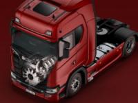 Scania представила новое поколение V8 двигателей